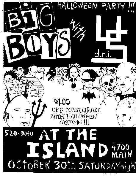 Big Boys-DRI @ The Island Houston TX 10-30-82