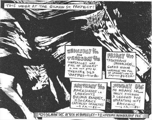 August 1987 @ Gilman St. Berkeley CA