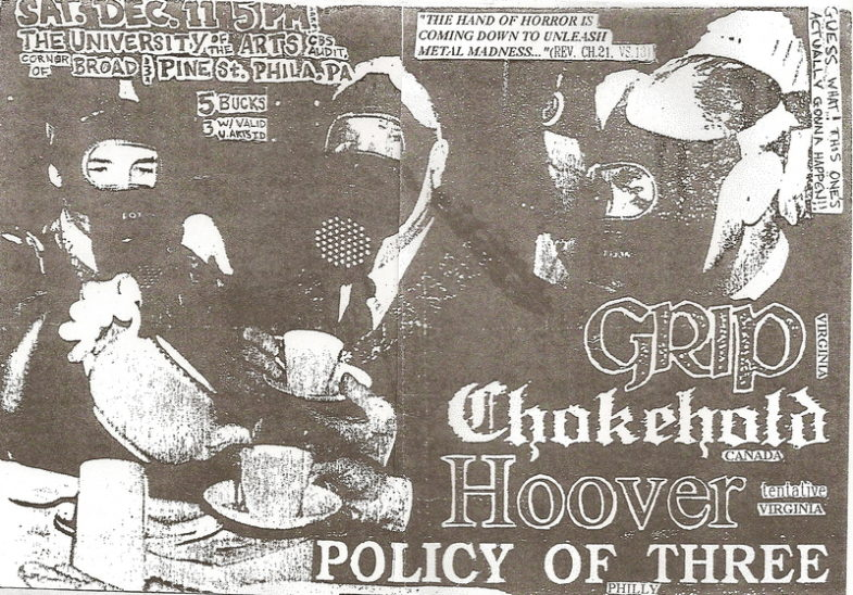Grip-Chokehold-Policy Of 3-Hoover @ University Of The Arts Philadelphia PA 12-11-93