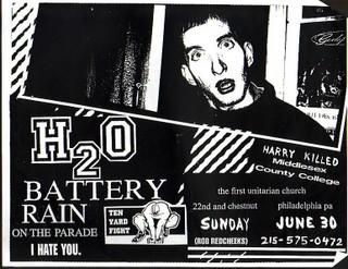 h2o-Rain On The Parade-Battery-Ten Yard Fight-I Hate You @ First Unitarian Church Philadelphia PA 6-30-96