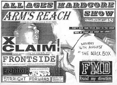 Found My Direction-Arms Reach-XClaim!-Frontside-Eightfold-Straight Forward @ The Black Box Melbourne Australia 8-16-97