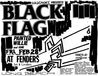 Black Flag-Painted Willie-Gone @ Fenders Long Beach CA 2-28-86