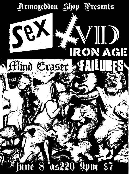 Sex Vid-Iron Age-Mind Eraser-Failures @ AS 220 Providence RI 6-8-09