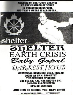 Shelter-Earth Crisis-Baby Gopal-Darkest Hour @ Chamber Of Sound Washington DC 11-22-95
