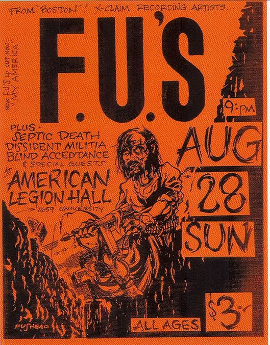 The FU's-Septic Death-Dissident Militia-Blind Acceptance @ American Legion Hall Boise ID 8-28-83