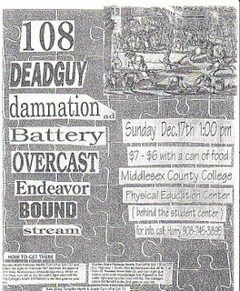 108-Deadguy-Damnation-Battery-Overcast-Endeavor-Bound-Stream @ Middlesex County College Edison NJ 12-17-95