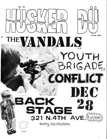 Husker Du-The Vandals-Youth Brigade-Conflict @ Backstage Tucson AZ 12-28-82