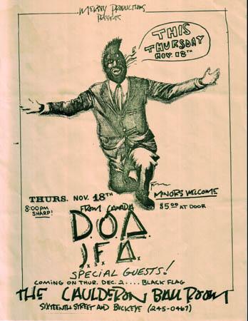 DOA-JFA @ The Caulderon Ballroom Phoenix AZ 11-18-82