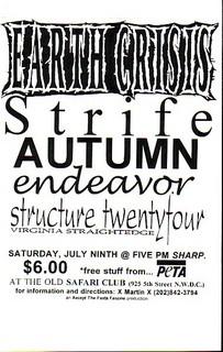 Earth Crisis-Strife-Autumn-Endeavor-Structure Twenty Four @ Safari Club Washington DC 7-9-94