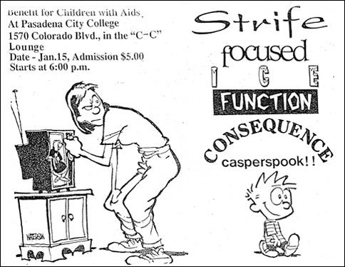 Strife-Focused-Ice-Function-Consequence-Casperspook @ Pasadena City College Pasadena CA 1-15-93