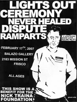 Ceremony-Never Healed-Lights Out-Dispute-Ramparts @ Balazo Gallery San Francisco CA 2-17-07