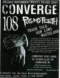 Converge-Pulling Teeth-108-Trash Talk-New Lows-Wasteland @ Cambridge Elks Lodge Cambridge MA 11-23-07