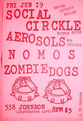 Social Circkle-Aerosols-Nomos-Zombie Dogs @ Quarterpipe Loft Brooklyn NY 6-19-09