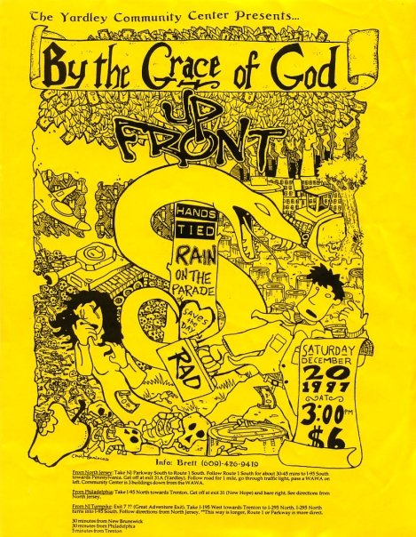 By The Grace Of God-Up Front-Hands Tied-Rain On The Parade-Saves The Day-Rad @ Yardley Community Center Yardley PA 12-20-97