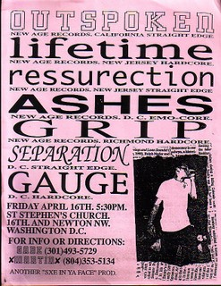 Outspoken-Lifetime-Ressurection-Ashes-Grip-Separation-Gauge @ St. Stephens Church Washington DC 4-16-90