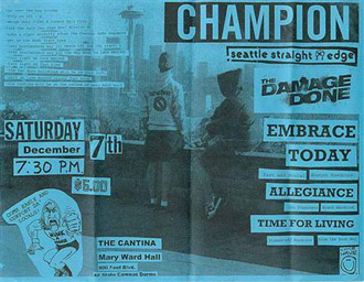 Champion-The Damage Done-Allegiance-Embrace Today-Time For Living @ The Cantina San Francisco CA 12-7-02