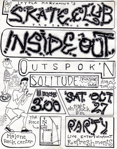 Inside Out-Outspoken-Farside-Solitude @ Malone Rec Center Los Angeles CA 10-27-90