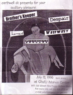 Brother's Keeper-Piebald-Despair-Harvest-Halfmast @ GWU Marvin Center Washington DC 7-13-96