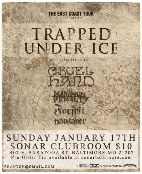 Trapped Under Ice-Cruel Hand-Maximum Penalty-Naysayer-Forfeit @ Sonar Clubroom Baltimore MD 1-17-10