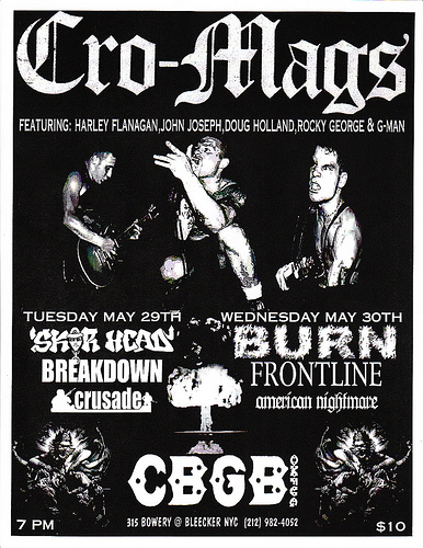 Two Nights With The Cro-Mags In May Of 2002.