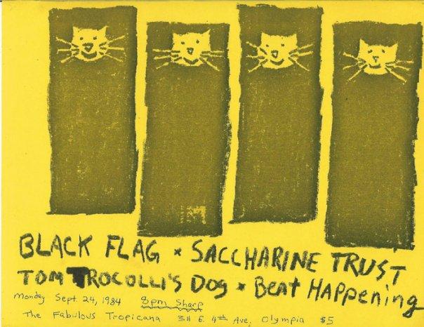 Black Flag-Tom Troccoli's Dog-Saccharine Trust-Beat Happening @ The Fabulous Tropicana Olympia WA 9-24-84