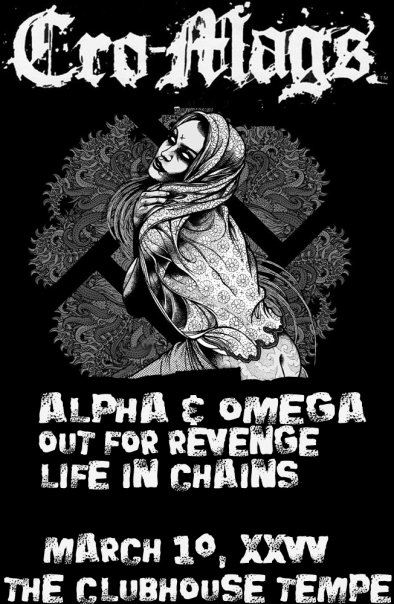 Cro Mags-Alpha & Omega-Out For Revenge-Life In Chains @ The Clubhouse Tempe AZ 3-10-10