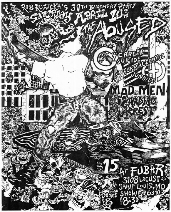 The Abused-Mad Men-Career Suicide-Formaldehyde Junkies-Cardiac Arrest @ FUBAR St. Louis MO 4-10-10