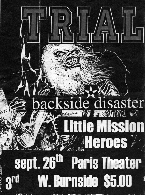 Trial-Backside Disaster-Little Mission Heroes @ Paris Theater Portland OR 9-26-97