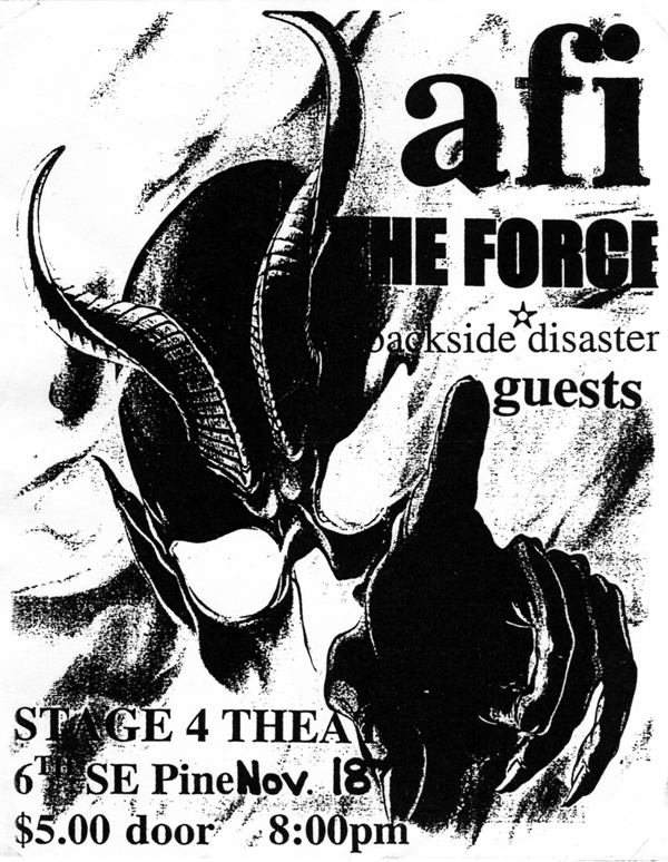 AFI-The Force-Backside Disaster @ Stage 4 Theater Portland OR 11-18-97