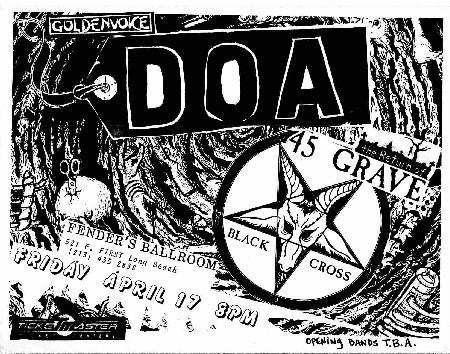DOA-45 Grave-Black Cross @ Fenders Long Beach CA 4-17-87