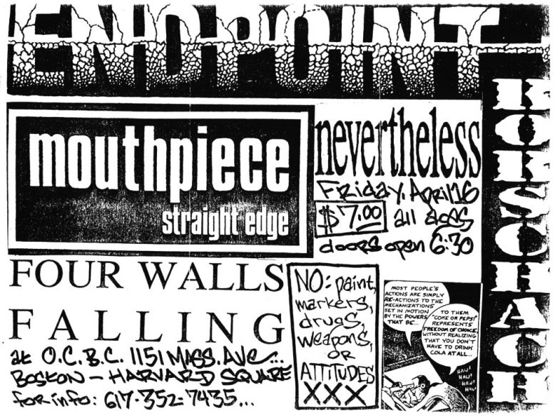 Endpoint-Mouthpiece-Four Walls Falling-Rorschach-Nevertheless @ Boston MA 4-16-93