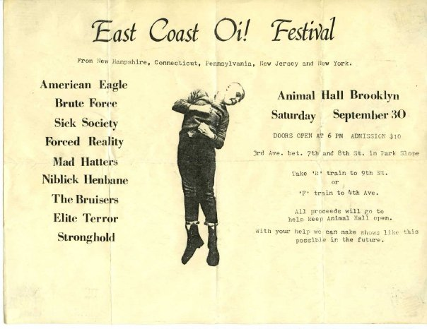 East Coast Oi! Festival 9-30-89