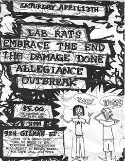 Lab Rats-Embrace The End-The Damage Done-Allegiance-Outbreak @ Gilman St. Berkeley CA 2-13-02