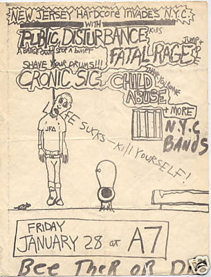 Public Disturbance-Fatal Rage-Child Abuse-Chronic Sick @ A7 New York City NY 1-28-83