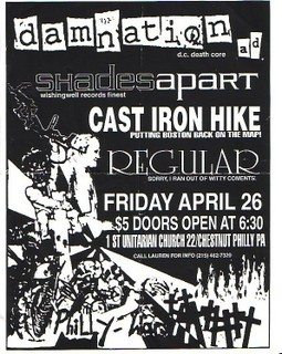 Damnation AD-Shades Apart-Cast Iron Hike-Regular @ First Unitarian Church Philadelphia PA 4-26-96