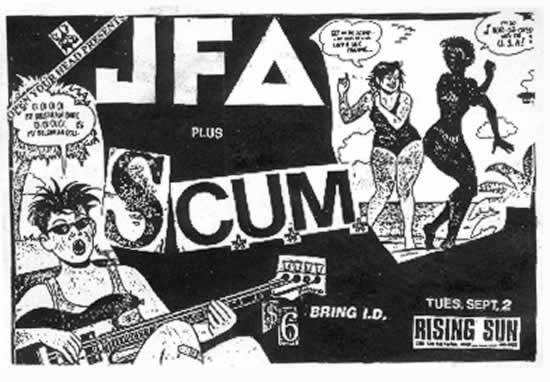 JFA-Scum @ Rising Sun Montreal Canada 9-2-86