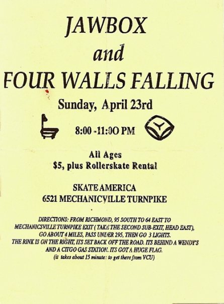 Jawbox-Four Walls Falling @ Skate America Mechanicville VA 4-23-95