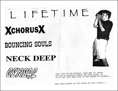 Lifetime-A Chorus of Disapproval-Bouncing Souls-Neck Deep-Cereal @ The Macondo Los Angeles CA 7-20-93