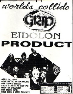 Worlds Collide-Grip-Edilon-Product @ The Metro Richmond VA 4-24-93