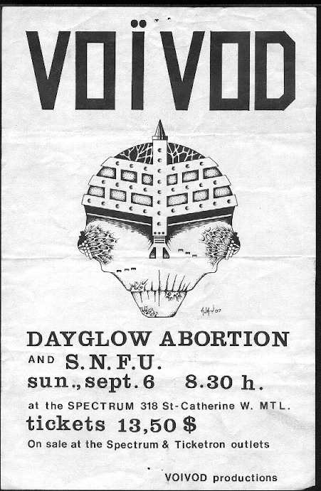 Voivod-SNFU-Dayglo Abortions @ Spectrum Montreal Canada 9-6-87