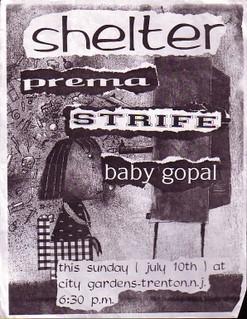 Shelter-Prema-Baby Gopal-Strife @ City Gardens Trenton NJ 7-10-94