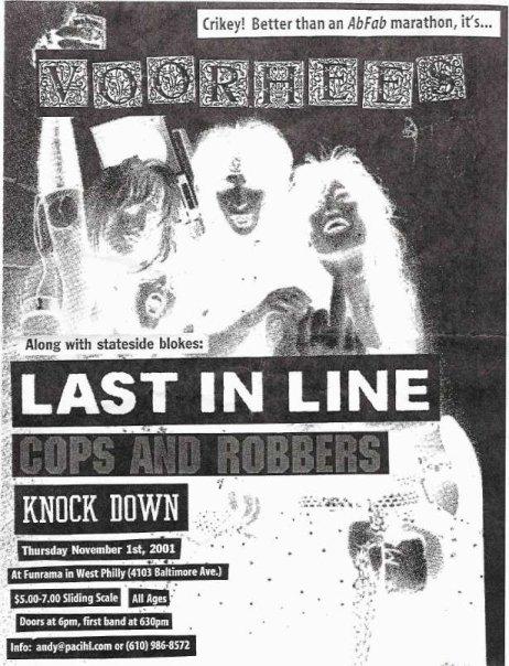 Voorhees-Last In Line-Cops & Robbers-Knockdown @ Funrama Philadelphia PA 11-1-01