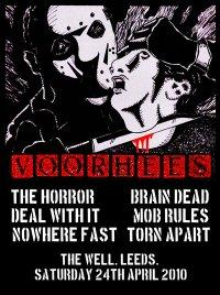 Voorhees-The Horror-Deal With It-Nowhere Fast-Brain Dead-Mob Rules-Torn Apart @ The Well Leeds England 4-24-10