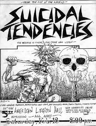 Suicidal Tendencies @ American Legion Hall Boise ID 2-18-84