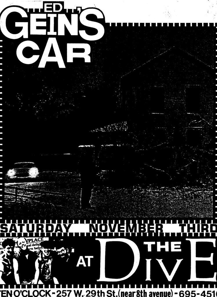 Ed Gein's Car @ The Dive New York City NY 11-3-84