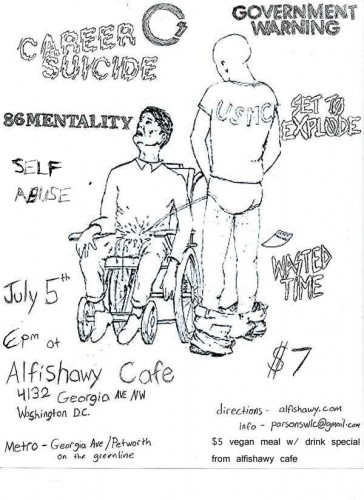 Career Suicide-Government Warning-86 Mentality-Set To Explode-Wasted Time @ Alfishawy Cafe Washington DC 7-5-06