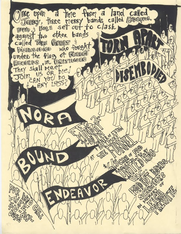Endeavor-Bound-Nora-Torn Apart-Disembodied @ The Funnel Baltimore MD 2-2-98