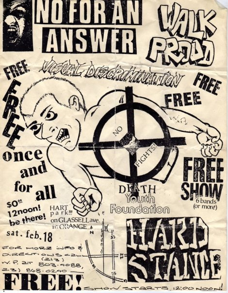No For An Answer-Walk Proud-Visual Discrimination-Hard Stance @ Hart Park Orange CA 2-18-89
