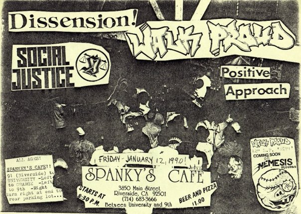 Dissension-Social Justice-Positive Approach-Walk Proud @ Spankys Riverside CA 1-12-90
