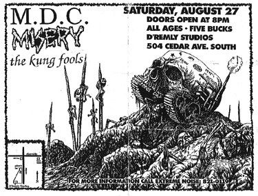 Millions of Dead Cops-Misery-The Kung Fools @ D'Remley Studios Minneapolis MN 8-27-88